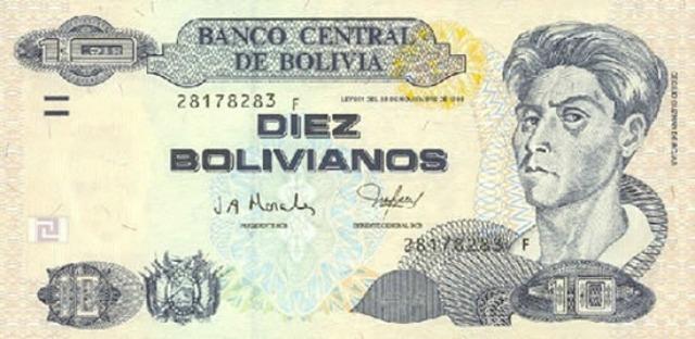 Billet de dix bolivianos