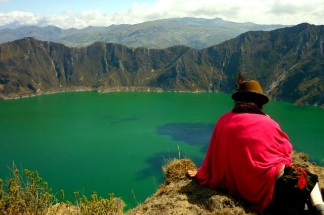 Point de vue sur la lagune Quilotoa