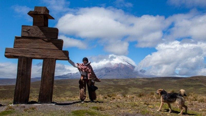 Sur la route vers le volcan Ruminahui, il y a des plates-formes d'observation d'où l'on peut admirer Cotopaxi.