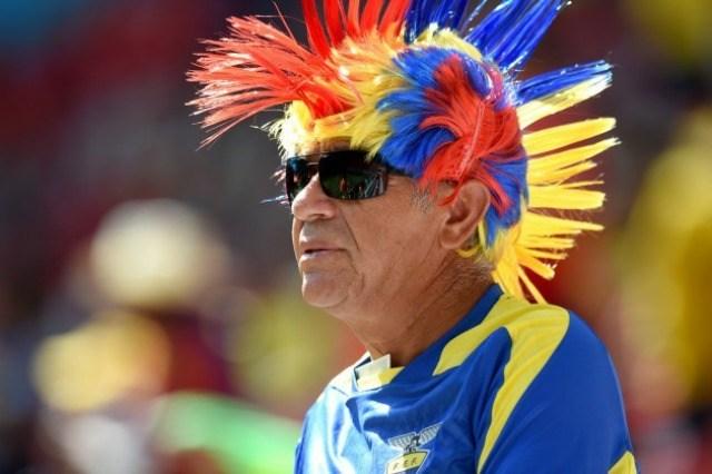 Un supporter de l'Equateur lors de la Coupe du Monde au Brésil 2014 © EMPICS Sport