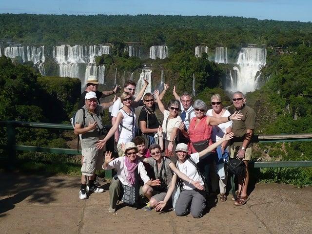 un bon moment aux chutes d'Iguazu