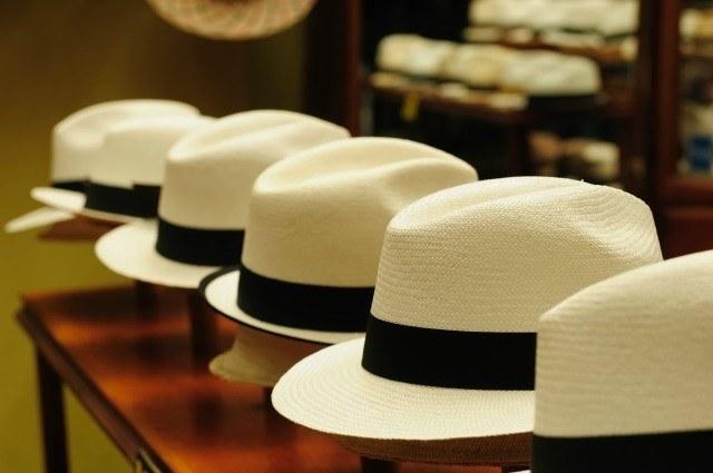 Exposition de chapeaux de Panama