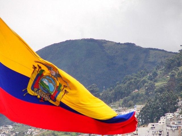 Drapeau de l'Equateur Crédit photo à : Yamil Salinas Martinez httpswww.flickr.comphotosyamilsalinas