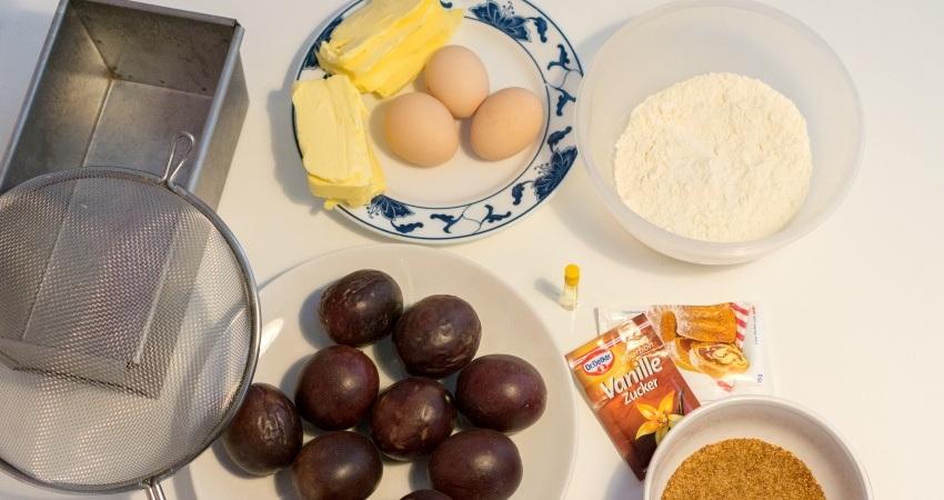 Les ingrédients nécessaires à la confection de ce cake !
