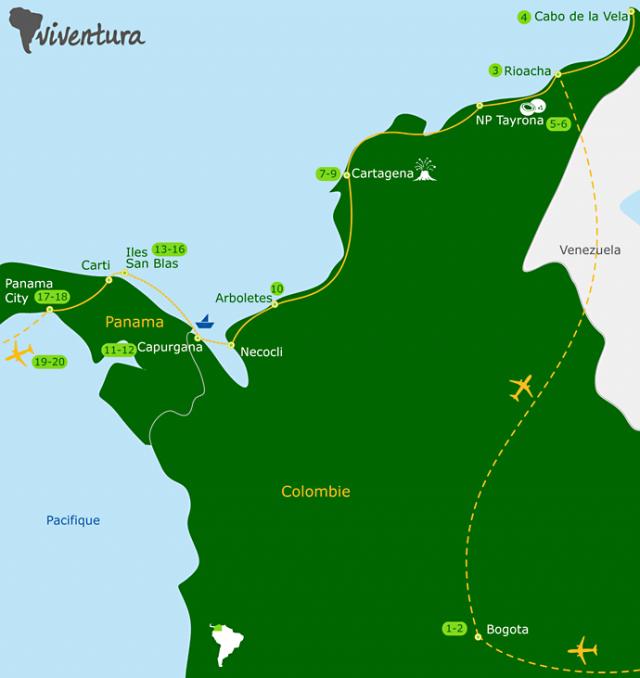 itinéraire circuit Colombie Panama
