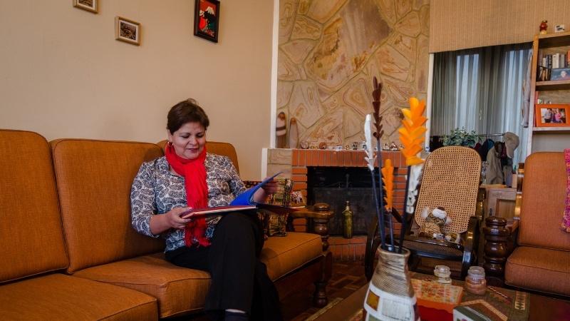 Judith dans sa maison à La Paz