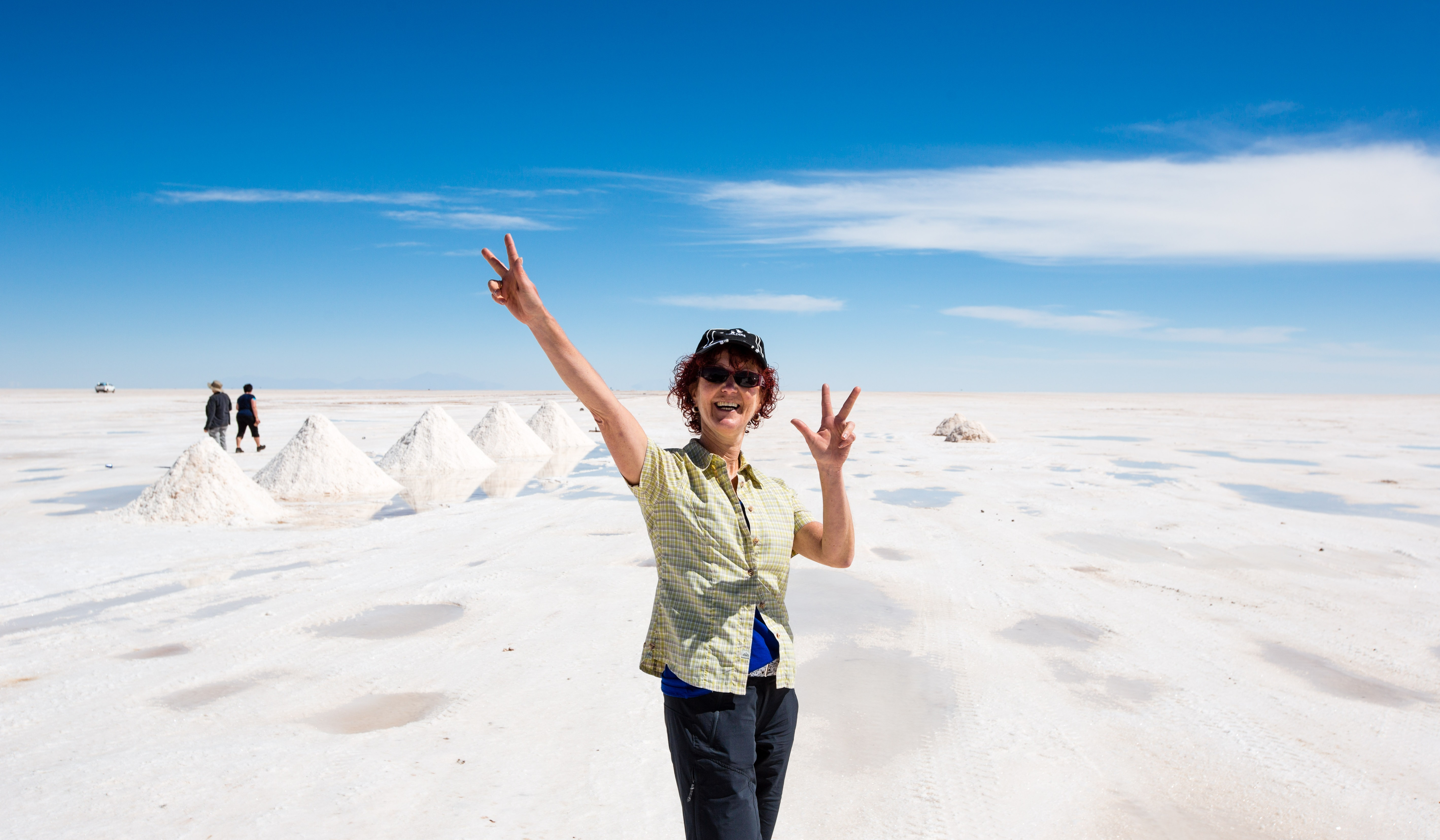 touriste bolivie sourire paysage